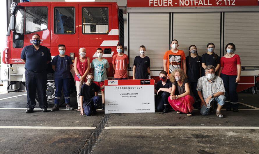Spendenübergabe an die Jugendfeuerwehr Rosbach